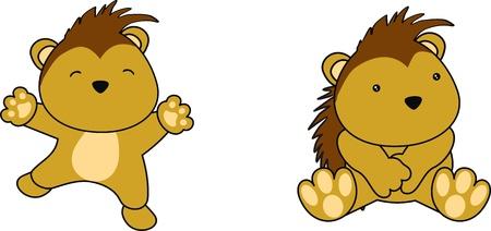 porcupine: porcupine baby cartoon in vector format