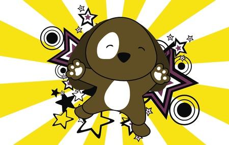 puppy jump cartoon background Stock Vector - 9812282