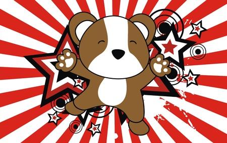 hamster jump cartoon background  Illustration