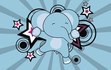 olifant sprong cartoon achtergrond