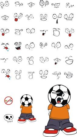 futbol: soccer kid set  Illustration