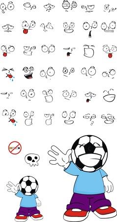soccer kid set  Illustration