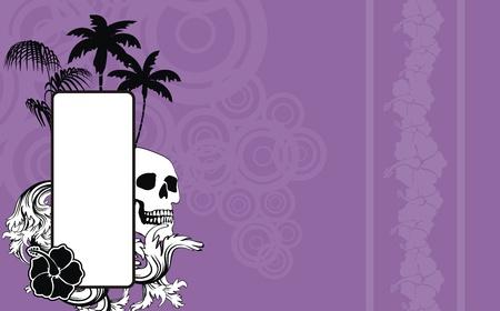 copyspace: tropical skull copyspace wallpaper