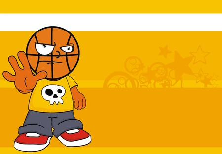 basketball kid cartoon background
