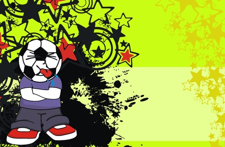 soccer kid cartoon background  Vector