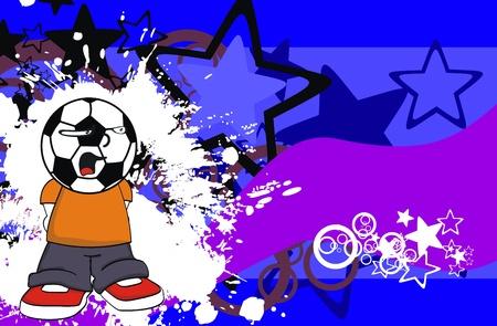 futbol soccer: soccer kid cartoon background   Illustration