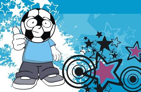 futbol: soccer kid cartoon background  Illustration