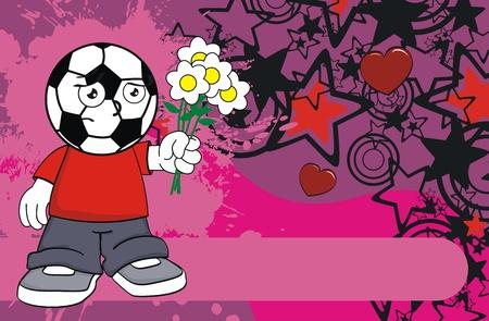 futbol soccer: soccer kid cartoon background