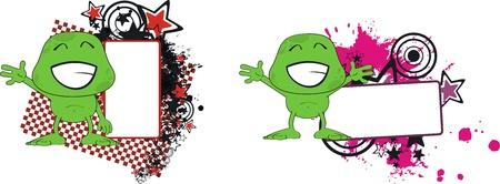 copyspace: alien monster cartoon copyspace