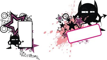 copyspace: demon monster cartoon copyspace