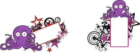 copyspace: octopus cartoon copyspace Illustration