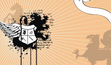 heraldic coat of arms background Vector
