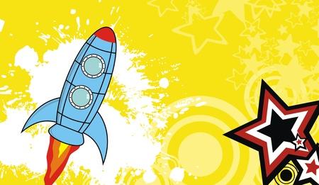 ruimteschip cartoon achtergrond in vector-formaat Stock Illustratie