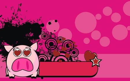 pig ball cartoon background in vector format Vector