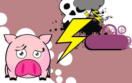 pig ball cartoon background in vector format 向量圖像