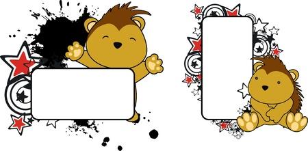 porcupine: baby porcupine copyspace  in vector format