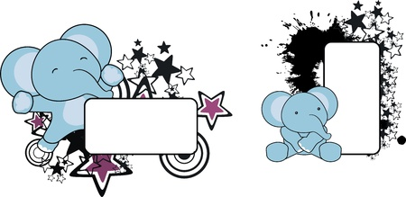 star: baby elephant copyspace  in vector format