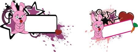 bunny cartoon copyspace in vector format Vector