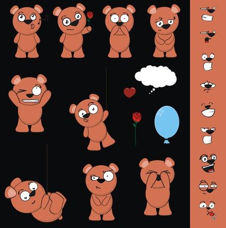teddybeer cartoon in vector-formaat