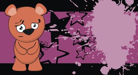 teddy bear cartoon background in vector format Vector