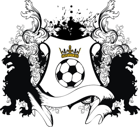 winged lion: cresta de Le�n her�ldico f�tbol en formato vectorial