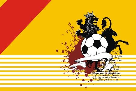 heraldische voetbal leeuw achtergrond in vector-formaat