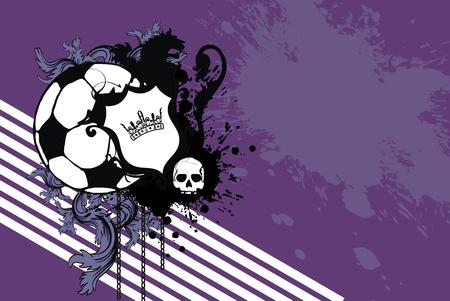 heraldische leeuw voetbal achtergrond in vector-formaat