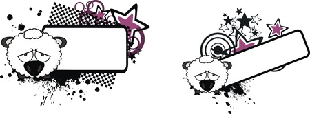 copyspace: sheep ball cartoon copyspace in vector foprmat