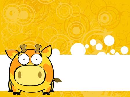 star background: giraffe ball cartoon background in vector format