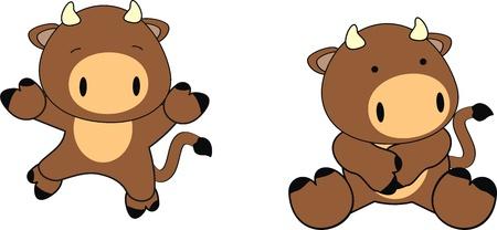 Caricature de bébé de Bull en format vectoriel Banque d'images - 10214885