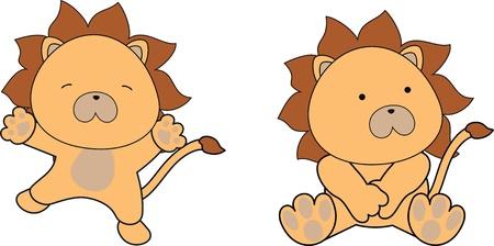 lion baby cartoon in vector format Vector