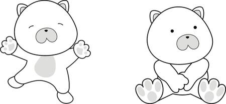 벡터 형식으로 북극곰 아기 만화 일러스트