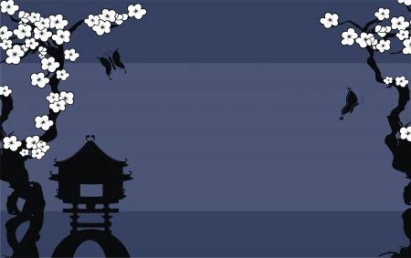 arrière-plan de bambou du Japon en format vectoriel