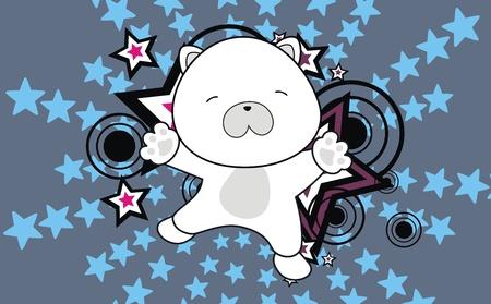 baby bear: polar bear baby cartoon jump background