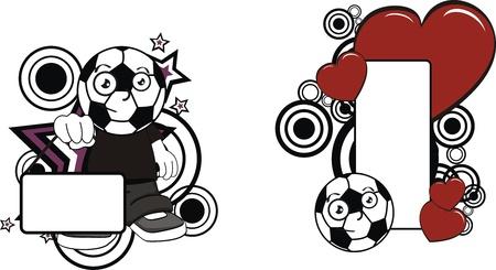 copyspace: soccer kid cartoon copyspace