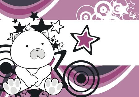 polar bear baby cartoon sit background in vector format Vector