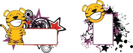 funny baby: tiger baby cartoon copyspace in vector format Illustration