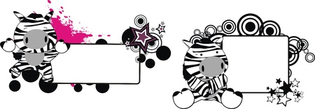 zebra baby cartoon copyspace in vector format Vector