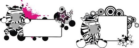 star: zebra baby cartoon copyspace in vector format Illustration