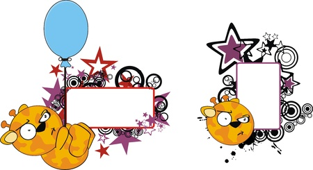 giraffe funny cartoon copyspace  Vector