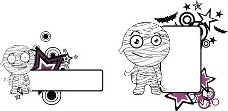 copyspace: mummy halloween cartoon copyspace