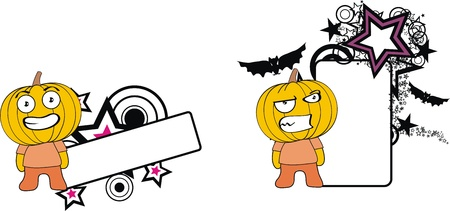 pumpkin halloween cartoon copyspace  Vector