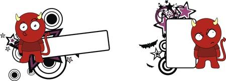 copyspace: demon halloween cartoon copyspace