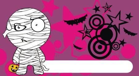 hallooween: mummy hallooween cartoon background