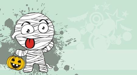 mummy hallooween cartoon background