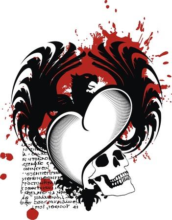 Heraldische hart zwart in het formaat Stockfoto - 10366968