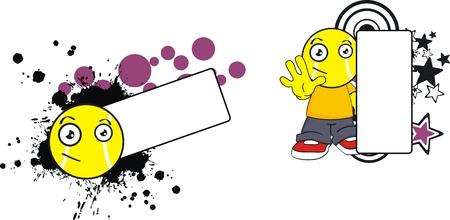 copyspace: tennis kid cartoon copyspace