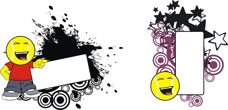 copyspace: tennis kid cartoon copyspace Illustration