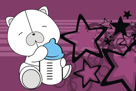 polar teddy bear baby cartoon background in vector format Vector