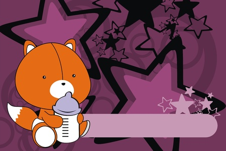baby toy: fox baby cartoon background in vector format
